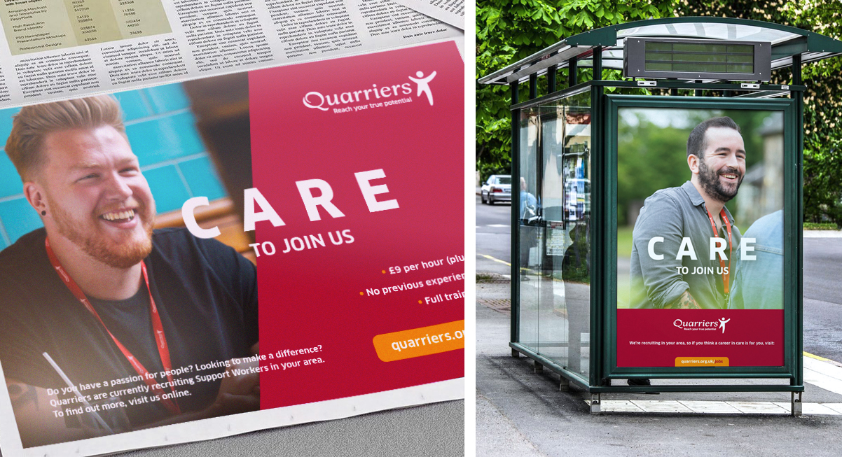 Quarriers Recruitment Advertising Campaign Maguires